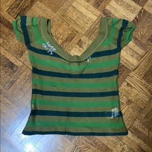 Miss sixty knit t shirt. Crop top